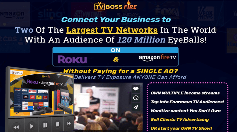 TV-BOSS FIRE: Your Instant TV Channel with Roku & Amazon TV Fire