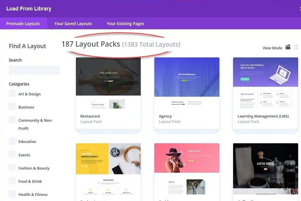 How to Load Divi Theme Layout Templates for your Website in Seconds