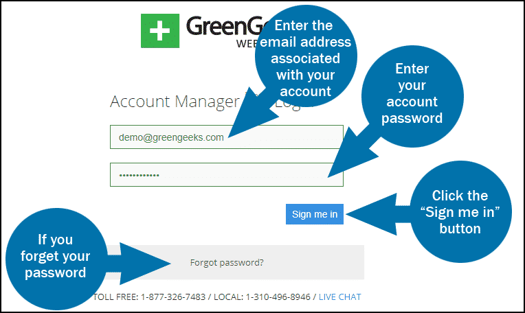 Greengeeks Account Login
