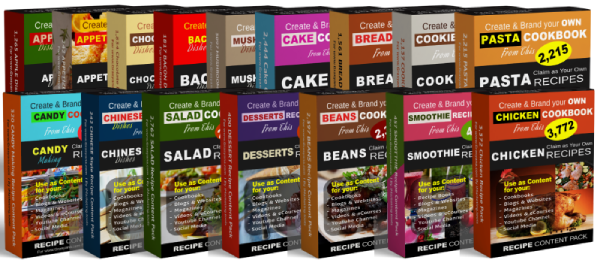 Recipe Content Packs for Food Bloggers and Cookbook Authors
