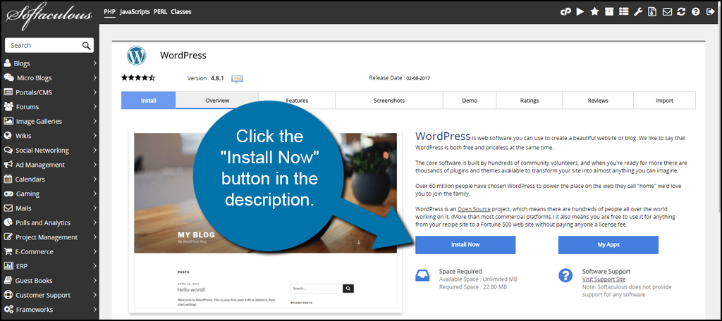 Install WordPress Now in cPanel Using Softaculous with Greengeeks