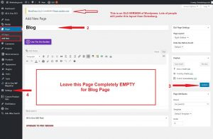 Adding a New Page for Blog Feature in WordPress