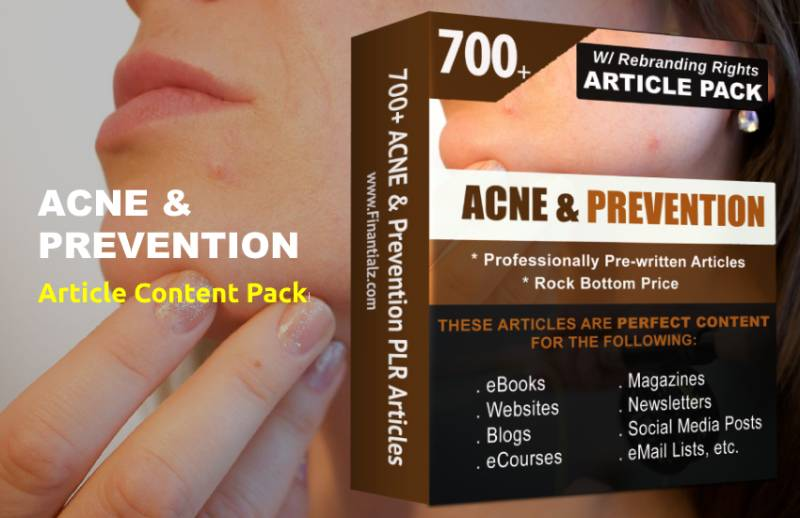 Acne & Prevention Article Pack Content - Pre-written Articles for your Blog & Digital Info Creation