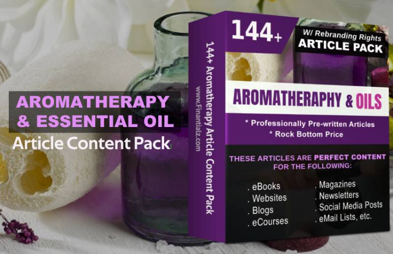 Aromatherapy & Essential Oils Article Content Pack