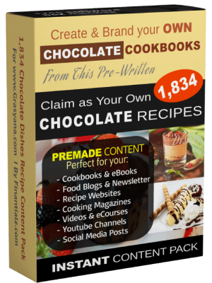 CHOCOLATE Dishes Recipe Content Pack