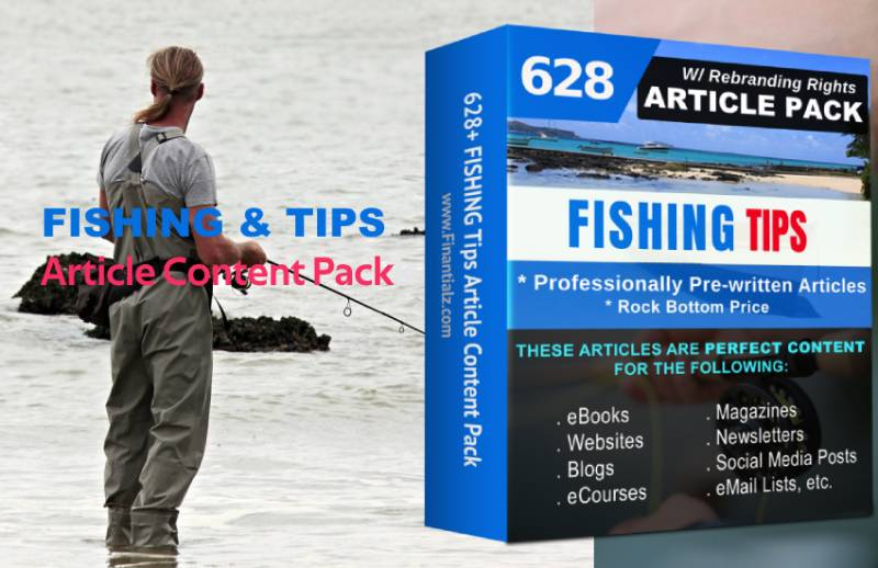 Fishing Article Content Pack with PLR