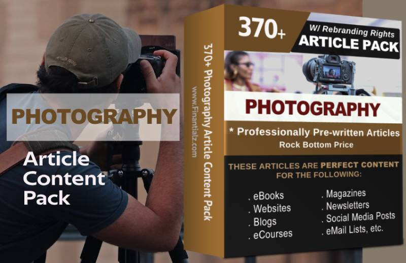 Photography Article Content Pack with Private Label Rights