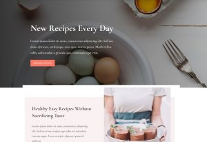 Divi Food Recipe Layout Website & Blog WordPress Theme