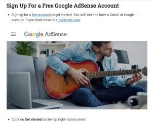 Where to Signup for Google Adsense
