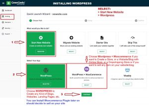 How to Install WordPress Quick & Easy with Quick Launch Wizard