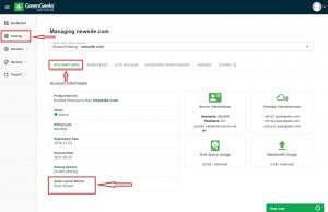 GreenGeeks Hosting Quick Launch Wizard 2021 New Tool