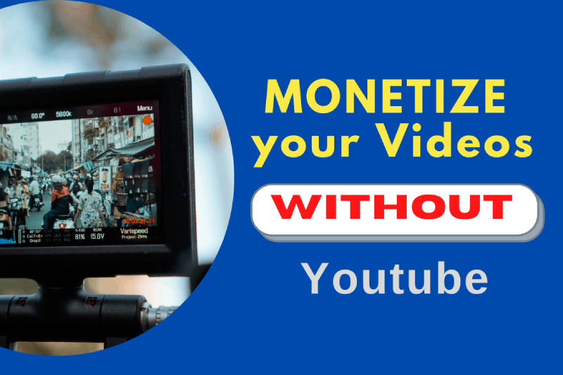 How to Monetize your Videos without Youtube. Make Money from Home with Videos on Demand